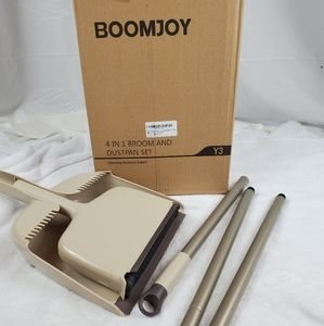 Boomjoy 4 in 1 broom and dustpan set